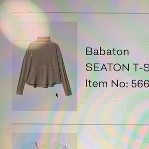 babaton seaton turtleneck t shirt in taupe